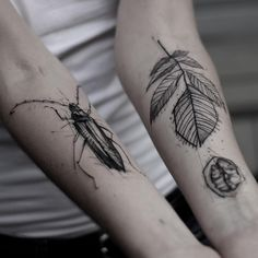line work sketch botanical tattoo ideas