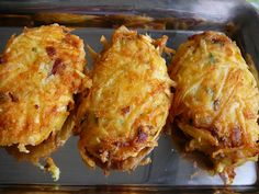 Starters, Lasagna, Baked Potato, Cauliflower, Brunch, Food And Drink, Potatoes, Snacks, Chicken