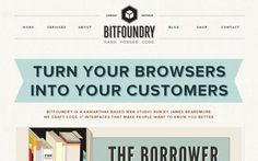 Vintage newspaper web site design: bitfoundry.ca