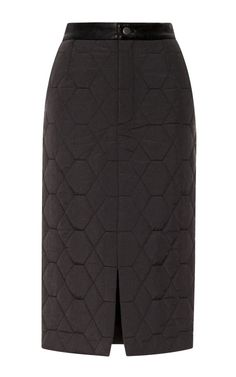 Daisy Leather-Trimmed Quilted Pencil Skirt by Timo Weiland Now Available on Moda Operandi