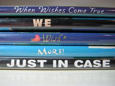 Wish more, just in case - Book Spine Poetry