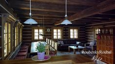 návrh interiéru roubenky - Google Search