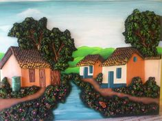 Mural Art, Wall Murals, Wall Art, Pasta Das, Cold Porcelain, Diorama, Landscape Paintings, Cami, Sculpture