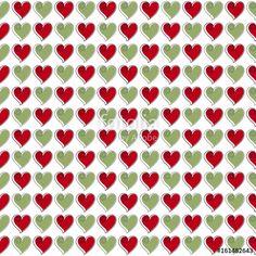 """Seamless red and green hearts pattern tarafından oluşturulmuş """"bilgea"""" Telifsiz fotoğrafını en uygun fiyatta Fotolia.com 'dan indirin. Pazarlama projelerinize mükemmel stok fotoğrafı bulmak için, en ucuz online görsel bankasına göz atın!"""