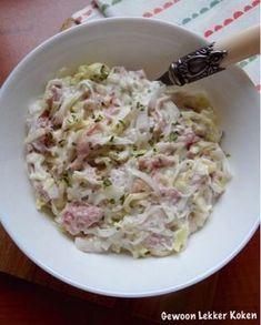 Ham-prei salade met rauwe ham