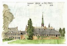 Val-Dieu, abbaye, du sud.