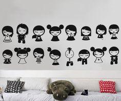 Anime Girls  Wall Decal Vinyl Decor Art Modern by uBerDecals
