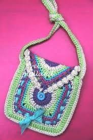 Resultado de imagem para tutorial or pattern for little girls crochet purse/bag