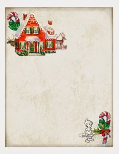 Free Printable Christmas Paper.... Great for a note from the elf on the shelf! :)