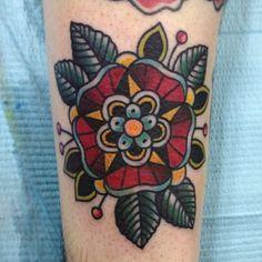 mandala old school tattoo - Pesquisa Google