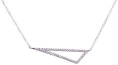 Triangle design diamond necklace. Available at 14 Karat Omaha.