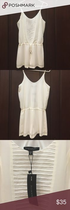🔥price drop🔥White romper/ jumpsuit Tie waist, romper, adjustable straps , new with tags Dresses