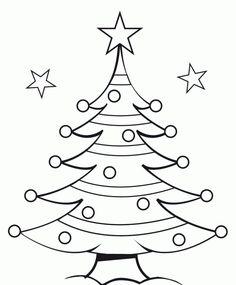 dibujos de navidad para pintar faciles buscar con google - Dibujo Arbol De Navidad
