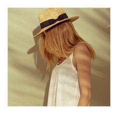 Straw Panama hat with black cotton trim Raffia Hat, Classic White, Black Cotton, Leather Sandals, Panama Hat, Boho Fashion, Hats, Collection, Women