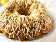 Lemon Monkey Bread - quick and easy recipe for lemon monkey bread with a lemon glaze