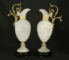 A Pair Of Rock Crystal Ewers/Pitcher.