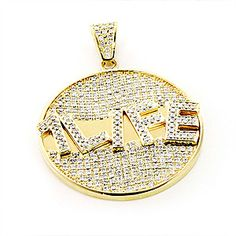 118 best bling bling images on pinterest diamond jewellery custom jewelry made in new york this 10k yellow gold diamond pendant showcases 590 carats aloadofball Choice Image