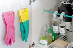 How to organise under the kitchen sink cupboard - The Organised Housewife