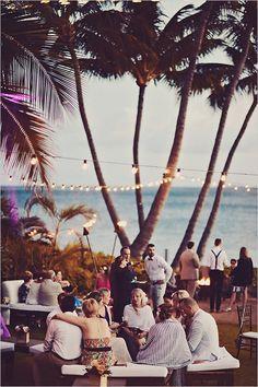 #Hawaiiwedding reception see the entire day →  http://weddingchicks.com/2015/09/15/boho-chic-wedding-in-hawaii/