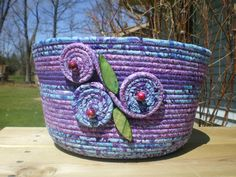 One of my creations...Wrap basket.... ♡♡