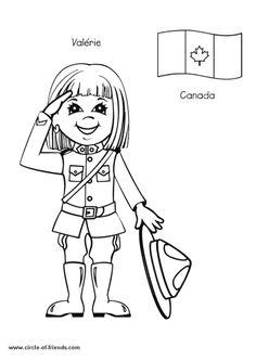 Coloriage enfant canada sur Hugolescargot.com - Hugolescargot.com