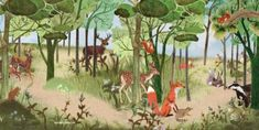 geboortekaartje kinderkamer poster bos bosdieren vos das konijn hert gezellig collage stoer schattig landschap nostalgie collage originele kaart origineel geboortekaartje kinderboek gouden boekje vintage vrolijk kleurrijk Hand Lettering, Collage, Plants, Painting, Design, Vintage, Dioramas, Nostalgia, Collages