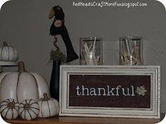Red Heads Craft More Fun: Burlap Thankful Sign