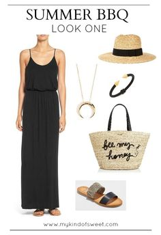 5 Looks: Summer BBQ Outfit Ideas   my kind of sweet   what to wear to a summer party   outfit ideas   casual style   mom style   maxi dress   summer fashion   summer style   women's fashion #style #fashion