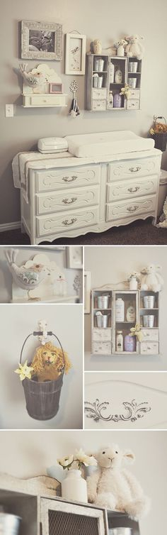 love the cabinet above the changing station. I would so this above and to the right, so baby wont be able to reach it