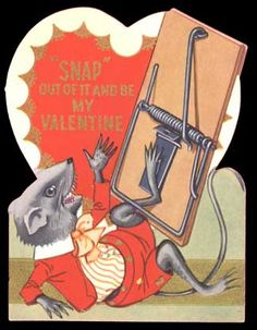 Snap out of it and be my Valentine. Valentine Images, My Funny Valentine, Vintage Valentine Cards, Valentine Day Cards, Vintage Cards, Valentine Ideas, Kitsch, Grunge, Creepy Vintage