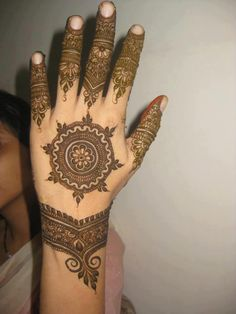 """Share this on WhatsAppThe Arabic mehndi designs are usually visible on wedding day and """"Henna nights"""". They also call Henna night as """"the night before [. Eid Mehndi Designs, Latest Arabic Mehndi Designs, Mehndi Designs For Hands, Mehndi Tattoo, Mehndi Art, Henna Tattoos, Tatoos, Hand Mehndi, Henna Images"""