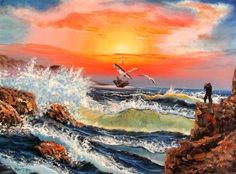 Oil Painting On Canvas, Oil Paintings, Waves, Outdoor, Art, Outdoors, Art Background, Kunst, Oil On Canvas