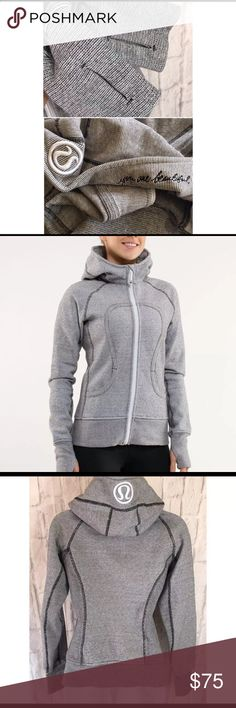 Lululemon Scuba Hoodie Microstripe SZ 4 Like new condition! Please feel free to ask any questions and or send me reasonable offers. Thank you! lululemon athletica Jackets & Coats