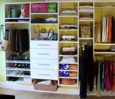 Organized Reach In Closet (Maximizing Space)