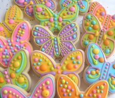 Reserved for Joy---Large Butterfly Decorated Cookie Favors - Butterfly Decorated Cookies - Butterfly Cookies - Cookie Gift - 1 Dozen Fancy Cookies, Iced Cookies, Cute Cookies, Easter Cookies, Cookies Et Biscuits, Cupcake Cookies, Sugar Cookies, Heart Cookies, Valentine Cookies