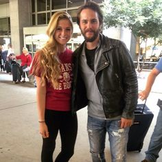 Taylor and a lucky fan Taylor Kitsch, Leather Jacket, Actors, Model, Jackets, Fans, Fashion, Studded Leather Jacket, Down Jackets
