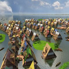 Rising sea levels and a shortage of land are leading to a surge of interest in floating architecture, with projects ranging from housing to entire cities
