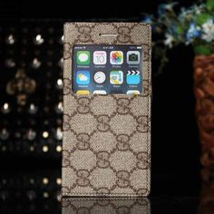 Gucci iPhone 6 and iPhone 6 Plus Beige Case Window Cover Book Style 2015 - The Best of Fashion Case - iPhoneProtectiveCases.com