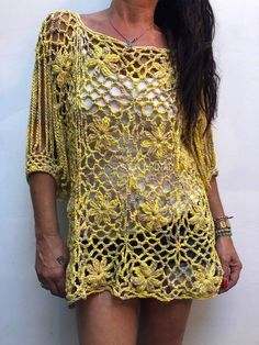 Jaspeado Crochet Blouse, Crochet Poncho, Crochet Lace, Kaftan Designs, Crochet Fashion, Beautiful Crochet, Crochet Clothes, Crochet Projects, Crochet Patterns