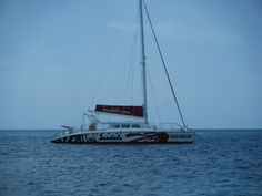 One of the catamarans we went on in Jamaica