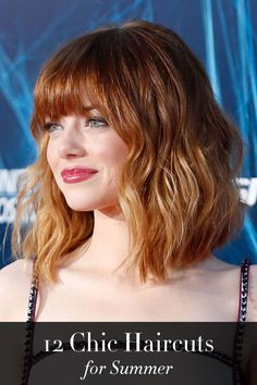 Emma Stone's perfect lob and 11 more celebrity haircuts to try out this summer.