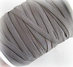 1/4 Gray Elastic Narrow  Elastic  5 Yds by PrettyThingsSupplies, $2.00