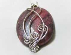 Wire-Wrapped Wire-Wrapped Jewelry Stone Pendant by TerrenEssence
