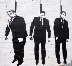 Brown + Cameron + Clegg by #Banksy