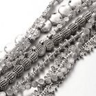 10 Strands Mixed Tibetan Style Metal Beads Antique Silver Nickel Free 420mm