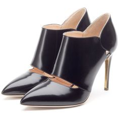 Rupert Sanderson Black High Heel Ankle Boots #Shoes #Heels #Booties