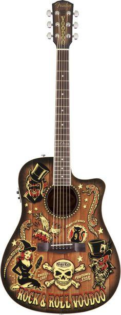 Fender Vince Ray Voodoo-Bucket 300CE, Rosewood Fingerboard 0968078999 - Tundra Music INC Vintage Guitars Store & More Toronto