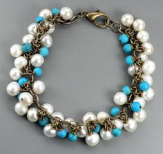 Turquoise and White...again!