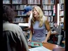 suddenly grab and crackle annoying plastic 6 inches from me all take turns in library doing; self righteous blond staff