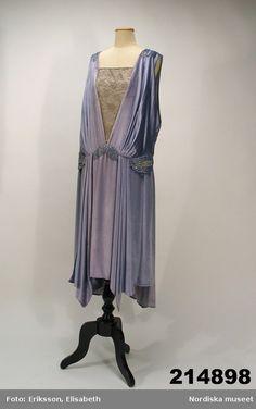 Dress: 1928, silk velvet, silk, trim.